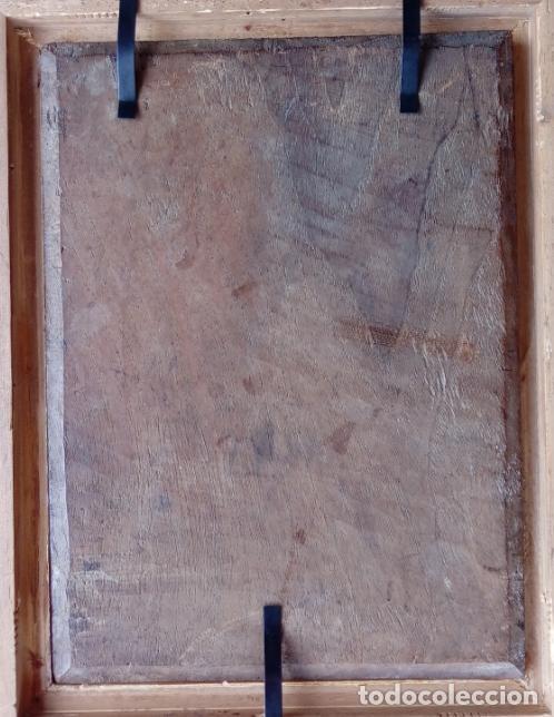 Arte: ÓLEO SOBRE TABLA -JESÚS ANTE PILATOS-, ESC. ITALIANA FINALES S. XVII. DIM.- 36X29.5 CMS - Foto 11 - 160439810
