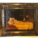 Arte: ANTIGÜA Y BONITA REPRODUCCIÓN , DEL PINTOR TIZIANO VECELLI . LA VENUS DE URBINO . Lote 160470962