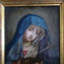 Arte: VIRGEN DOLOROSA SOBRE COBRE. Lote 160485586