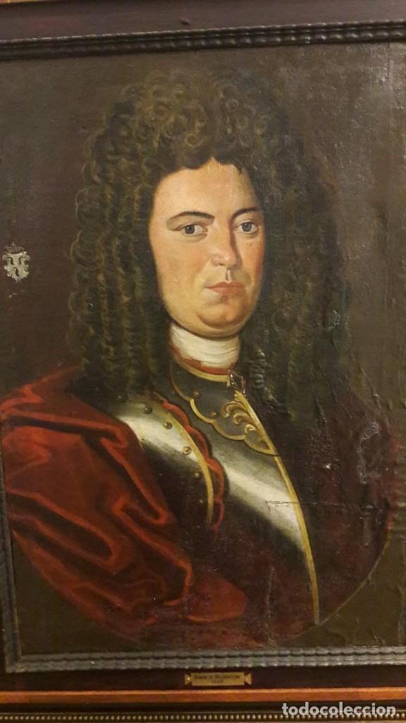 PAREJA DE RETRATOS FRANCESES. OLEO/LIENZO HACIA 1680. CABALLERO CON ARMADURA (Arte - Pintura - Pintura al Óleo Antigua siglo XVII)