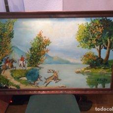 Arte: MAJESTUOSO OLEO SOBRE LIENZO, FIRMADO, VER. Lote 160544566