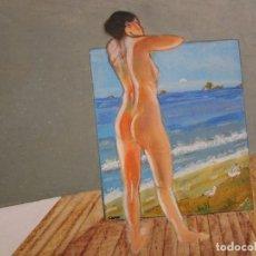 Arte: CUADRO SOBRE TABLA DE MADERA. Lote 160666070
