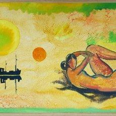 Arte: PER DAHL (EBELTOFT, DINAMARCA 1930), GRAN PINTURA VINTAGE, FIRMADA. Lote 160674510