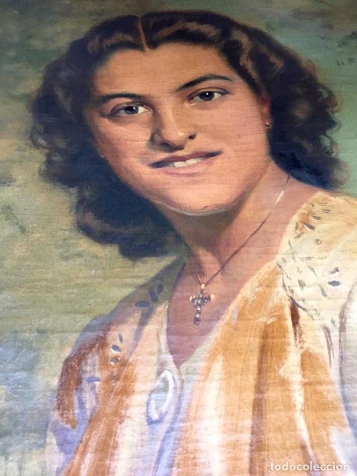 Arte: RAMÓN BORRELL PLA (Barcelona 1876-1963) (76x56cm obra) Óleo con retrato femenino del pintor catalán - Foto 6 - 160735698