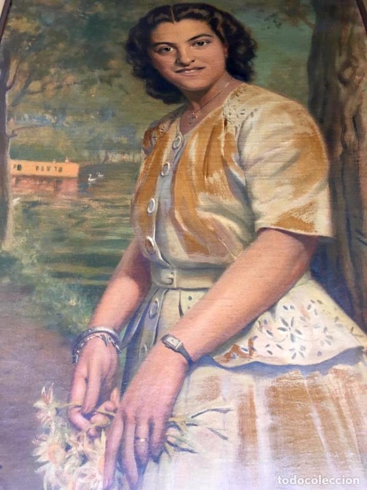 Arte: RAMÓN BORRELL PLA (Barcelona 1876-1963) (76x56cm obra) Óleo con retrato femenino del pintor catalán - Foto 10 - 160735698