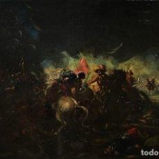 Arte: SEGUIDOR DE ESTEBAN MARCH (1610-1668) - DOS ESCENAS DE BATALLA. Lote 160744826
