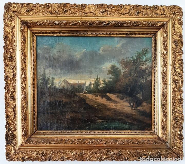 PAISAJE AL ÓLEO DEL SIGLO XIX (Arte - Pintura - Pintura al Óleo Moderna siglo XIX)