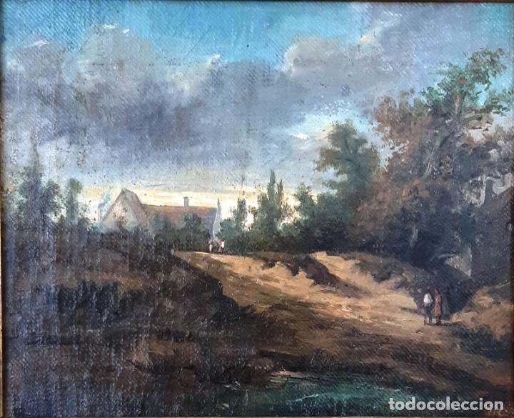 Arte: Paisaje al óleo del siglo XIX - Foto 2 - 160839762