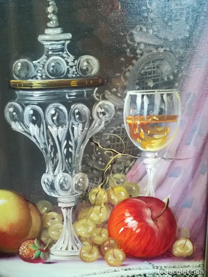 Arte: BODEGON CON FRUTA Y CRISTAL DEL ARTISTA R.MICHEL - Foto 3 - 160845870