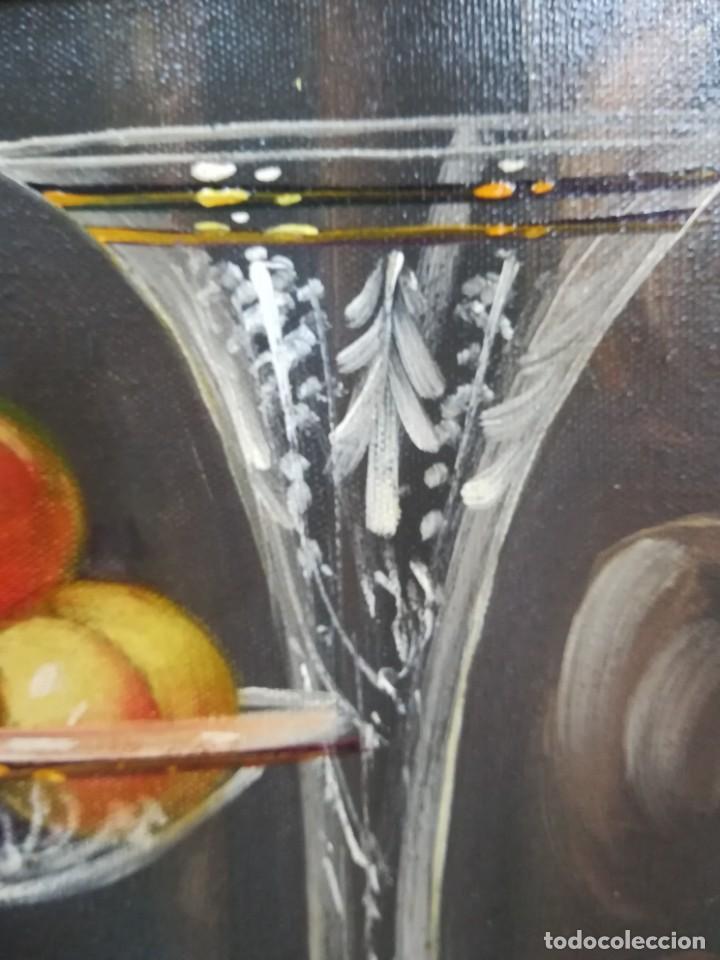 Arte: BODEGON CON FRUTA Y CRISTAL DEL ARTISTA R.MICHEL - Foto 6 - 160845870