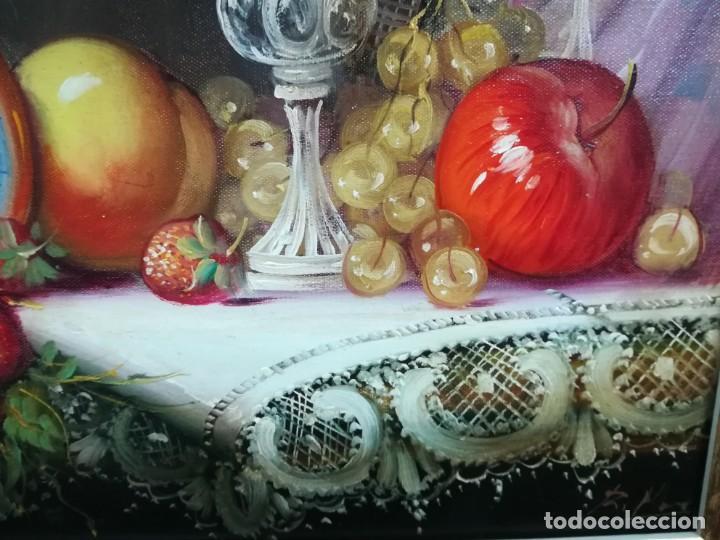 Arte: BODEGON CON FRUTA Y CRISTAL DEL ARTISTA R.MICHEL - Foto 8 - 160845870