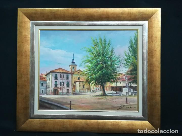 PLAZA DE LEON POR EL ARTISTA F.SANCHIS (Arte - Pintura - Pintura al Óleo Contemporánea )