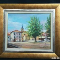 Arte: PLAZA DE LEON POR EL ARTISTA F.SANCHIS. Lote 160848782