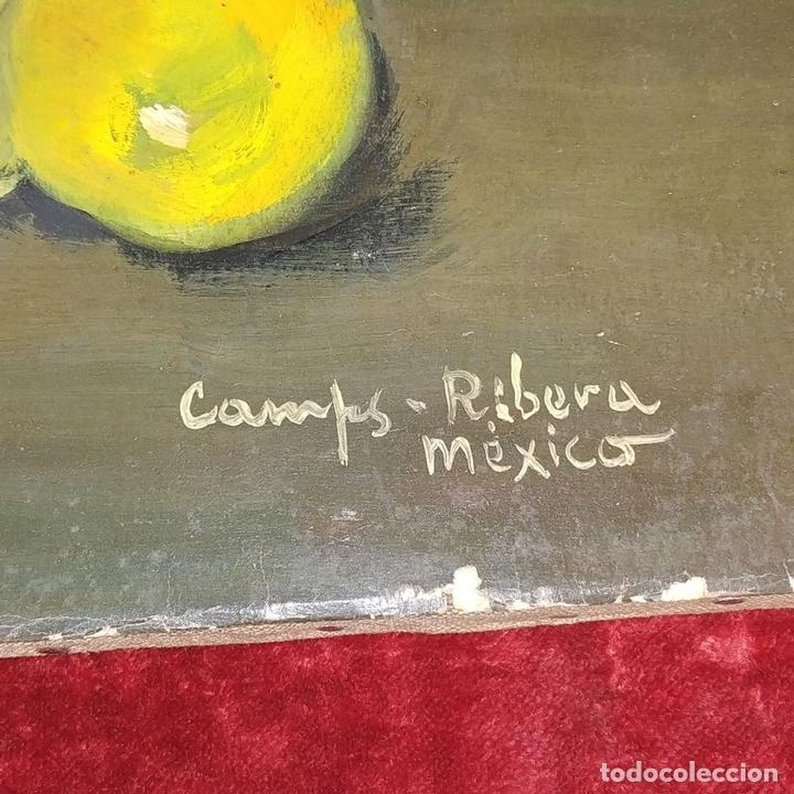 Arte: NATURALEZA MUERTA. ÓLEO SOBRE PAPEL. FIRMADO (FRANCESC) CAMPS I RIBERA. MEXICO. XX - Foto 12 - 160941366