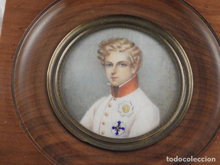Arte: MAGNIFICA MINIATURA AL OLEO SOBRE MARFIL FIRMADA S. XIX - Foto 2 - 160942246