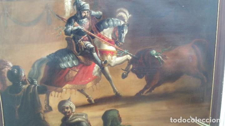 Arte: pintura al oleo del famoso pintor jose nmaria brel y giral 1841-1894,buen tamaño 110cm por 85cm - Foto 2 - 160970346