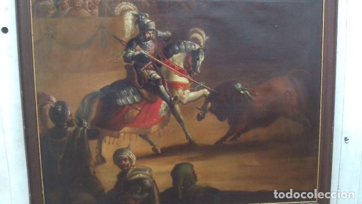 Arte: pintura al oleo del famoso pintor jose nmaria brel y giral 1841-1894,buen tamaño 110cm por 85cm - Foto 4 - 160970346