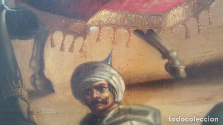 Arte: pintura al oleo del famoso pintor jose nmaria brel y giral 1841-1894,buen tamaño 110cm por 85cm - Foto 6 - 160970346