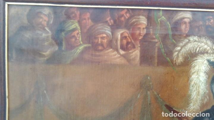 Arte: pintura al oleo del famoso pintor jose nmaria brel y giral 1841-1894,buen tamaño 110cm por 85cm - Foto 7 - 160970346