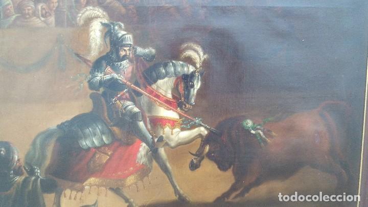 Arte: pintura al oleo del famoso pintor jose nmaria brel y giral 1841-1894,buen tamaño 110cm por 85cm - Foto 8 - 160970346