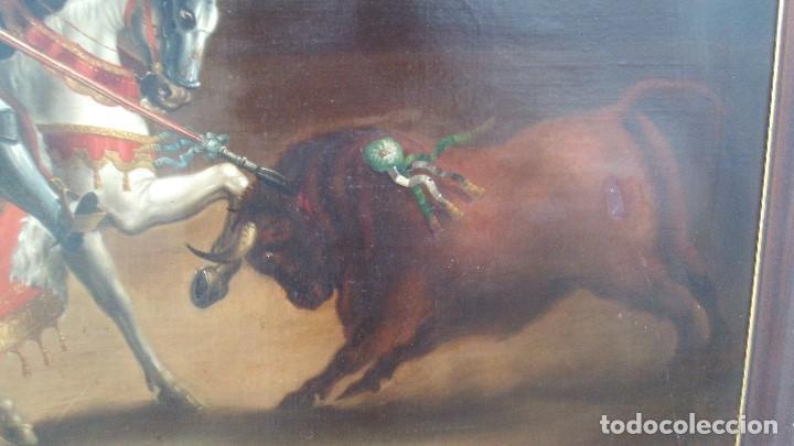 Arte: pintura al oleo del famoso pintor jose nmaria brel y giral 1841-1894,buen tamaño 110cm por 85cm - Foto 9 - 160970346