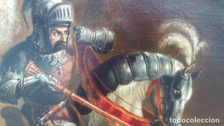 Arte: pintura al oleo del famoso pintor jose nmaria brel y giral 1841-1894,buen tamaño 110cm por 85cm - Foto 10 - 160970346