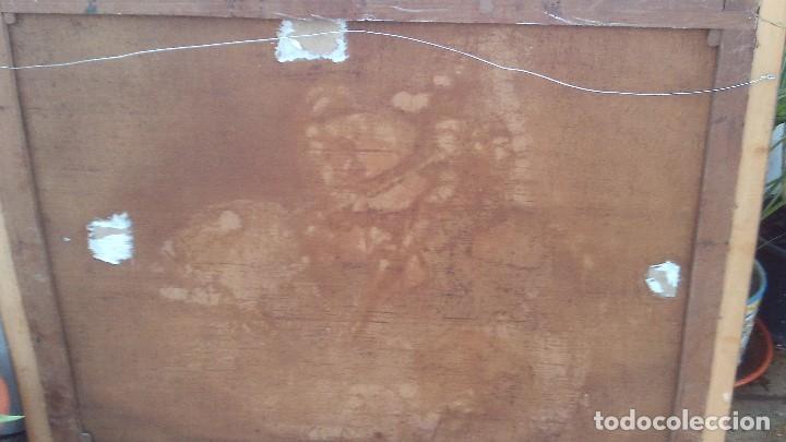 Arte: pintura al oleo del famoso pintor jose nmaria brel y giral 1841-1894,buen tamaño 110cm por 85cm - Foto 12 - 160970346