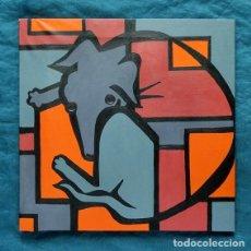 Arte: TEOFANÚ CALZADA - SINGULAR OBRA - PERRO ESTILO CUBISTA - ACRÍLICO SOBRE LIENZO - 50X50CM - . Lote 160974962