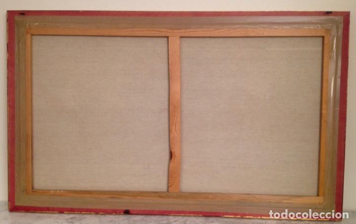 Arte: Paisaje Pintura Óleo Sobre Lienzo Grande Firmado y Enmarcado - Foto 6 - 160983894