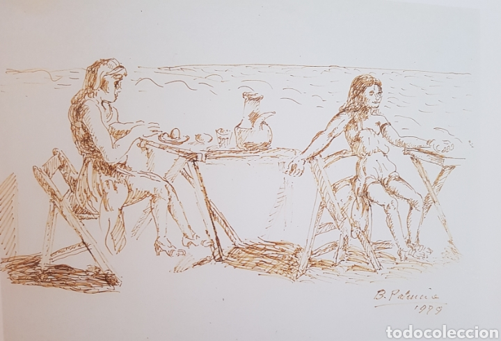 BENJAMIN PALENCIA MERIENDA EN LA PLAYA (Arte - Pintura - Pintura al Óleo Contemporánea )
