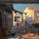 Arte: JULI BATALLE MURLA (SANT ESTEVE D'EN BAS, 1926) OLEO SOBRE TELA. MUNICIPIO DEL MALLOL. Lote 161021046