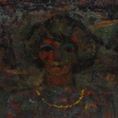 Arte: LLUIS TREPAT PADRO (TÁRREGA, 1925) GRAN OLEO SOBRE TELA DEL AÑO 1962. RETRATO FEMENINO. Lote 161022850