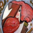 Arte: OSWALDO AULÉSTIA BACH (BARCELONA, 1946) ACRÍLICO SOBRE LIENZO TITULADO REVER PER DUE. AÑO 1978. Lote 161119818