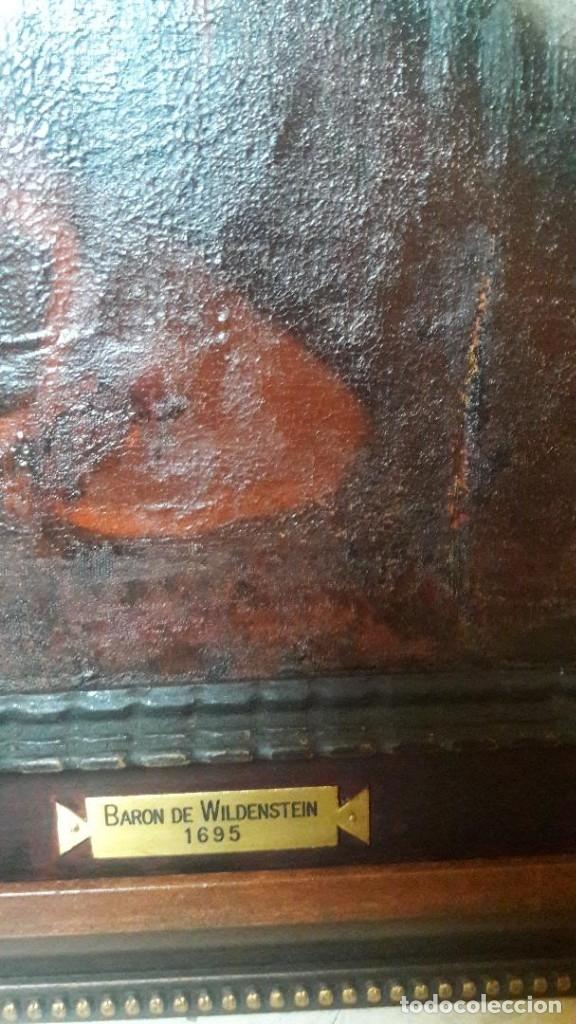 Arte: Pareja de Retratos Franceses. oleo/lienzo hacia 1680. Caballero con Armadura - Foto 4 - 160543390