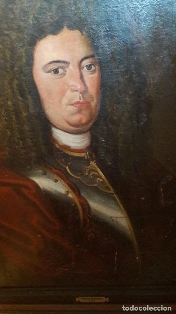 Arte: Pareja de Retratos Franceses. oleo/lienzo hacia 1680. Caballero con Armadura - Foto 8 - 160543390