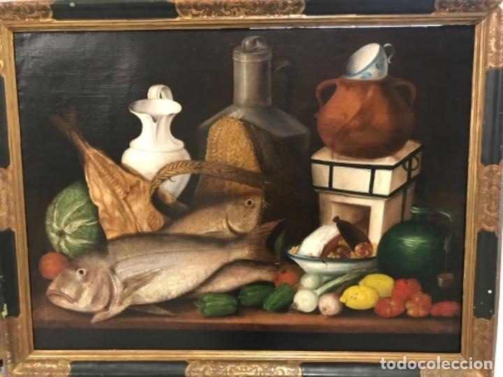 GRAN BODEGÓN FIRMADO XVIII -XIX (Arte - Pintura - Pintura al Óleo Antigua siglo XVIII)