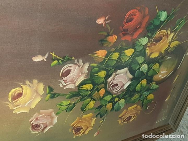 Arte: CUADRO FLORES FIRMADO - Foto 7 - 26937672