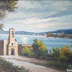 Arte: ENRIQUE BELTRÁN MESSA - PAISAJE I MARINA.OLEO/TELA.FIRMADO I TITULADO.. Lote 161273324