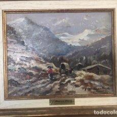 Arte: PAISAJE NEVADO DE JOAQUIM MARSILLACH I CODONY. Lote 161330470