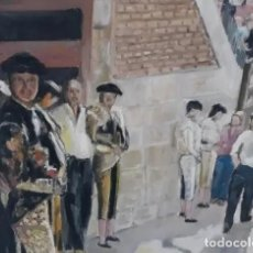 Arte: OLEO LIENZO MUY GRANDE CUADRO GRANDE TAURINO PLAZA TOROS ARTE. Lote 161358662