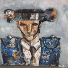 Arte: CUADRO GRANDE IMPRESIONISMO TORERO OLEO LIENZO ARTE. Lote 161458908