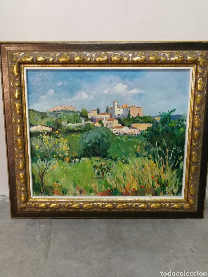 PRECIOSO ÓLEO PAISAJE CANYELLES- JOAN SOLER PIÑELLAS (VILANOVA I LA GELTRÚ), 60X52CM. (Arte - Pintura - Pintura al Óleo Contemporánea )