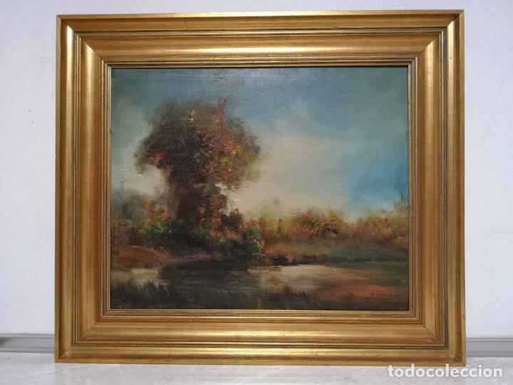 PINTURA ÓLEO SOBRE LIENZO JR. BERZEKY (Arte - Pintura - Pintura al Óleo Moderna siglo XIX)