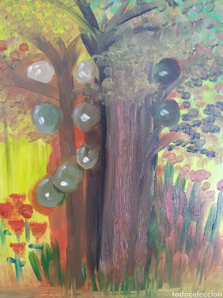 Arte: Oleo sobre tablex 40x50 El bosque encantado. Obra original Catalina Franco. - Foto 2 - 161562281