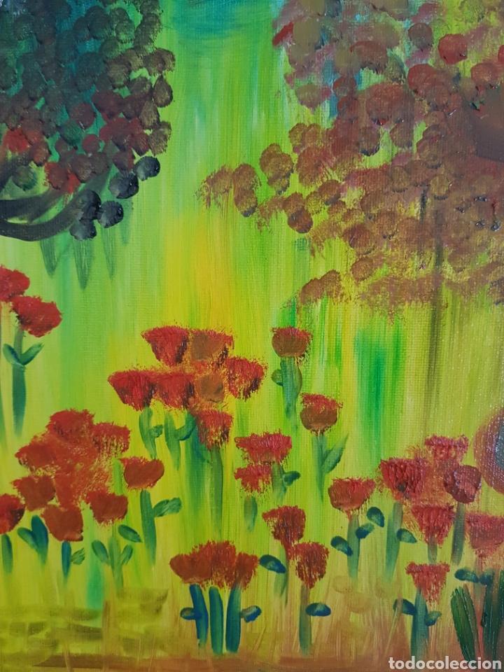 Arte: Oleo sobre tablex 40x50 El bosque encantado. Obra original Catalina Franco. - Foto 3 - 161562281