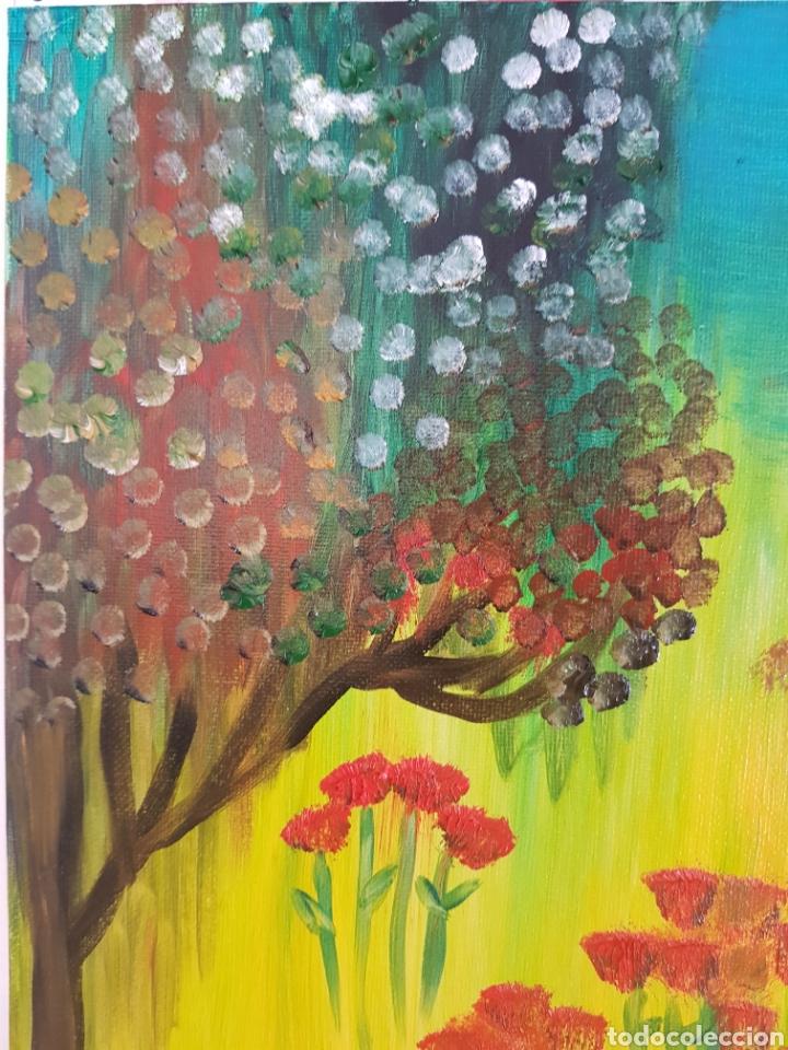 Arte: Oleo sobre tablex 40x50 El bosque encantado. Obra original Catalina Franco. - Foto 4 - 161562281