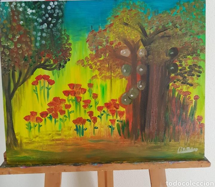 Arte: Oleo sobre tablex 40x50 El bosque encantado. Obra original Catalina Franco. - Foto 5 - 161562281