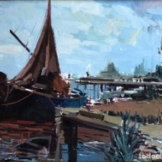 Arte: EUSTAQUIO SEGRELLES DEL PILAR (1936) - CULLERA - ÓLEO SOBRE LIENZO. Lote 161597458