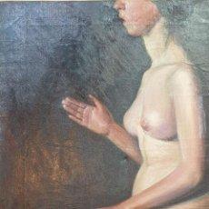 Arte: DESNUDO DE MUJER. ÓLEO SOBRE LIENZO. MARIA ROESSET MOSQUERA. 1913. . Lote 161617754