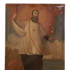 Arte: SAN FRANCISCO JAVIER. OLÉO SOBRE LIENZO ,SIGLO XVII. 90X67 CM. Lote 161624930